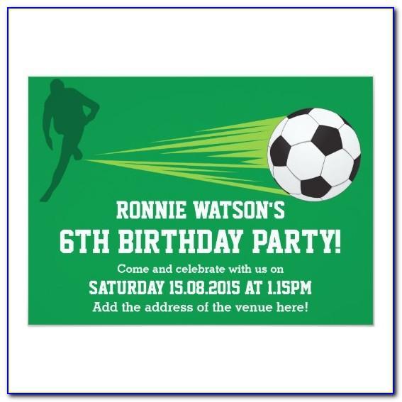 Football Birthday Party Invitation Templates Free