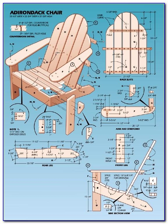 Free Adirondack Chair Plans & Templates