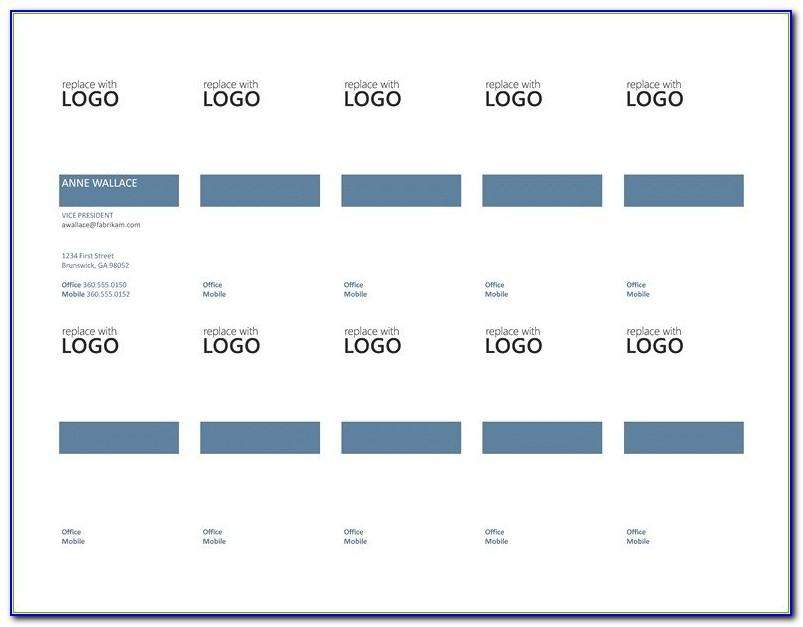 Free Avery Business Card Template 8871