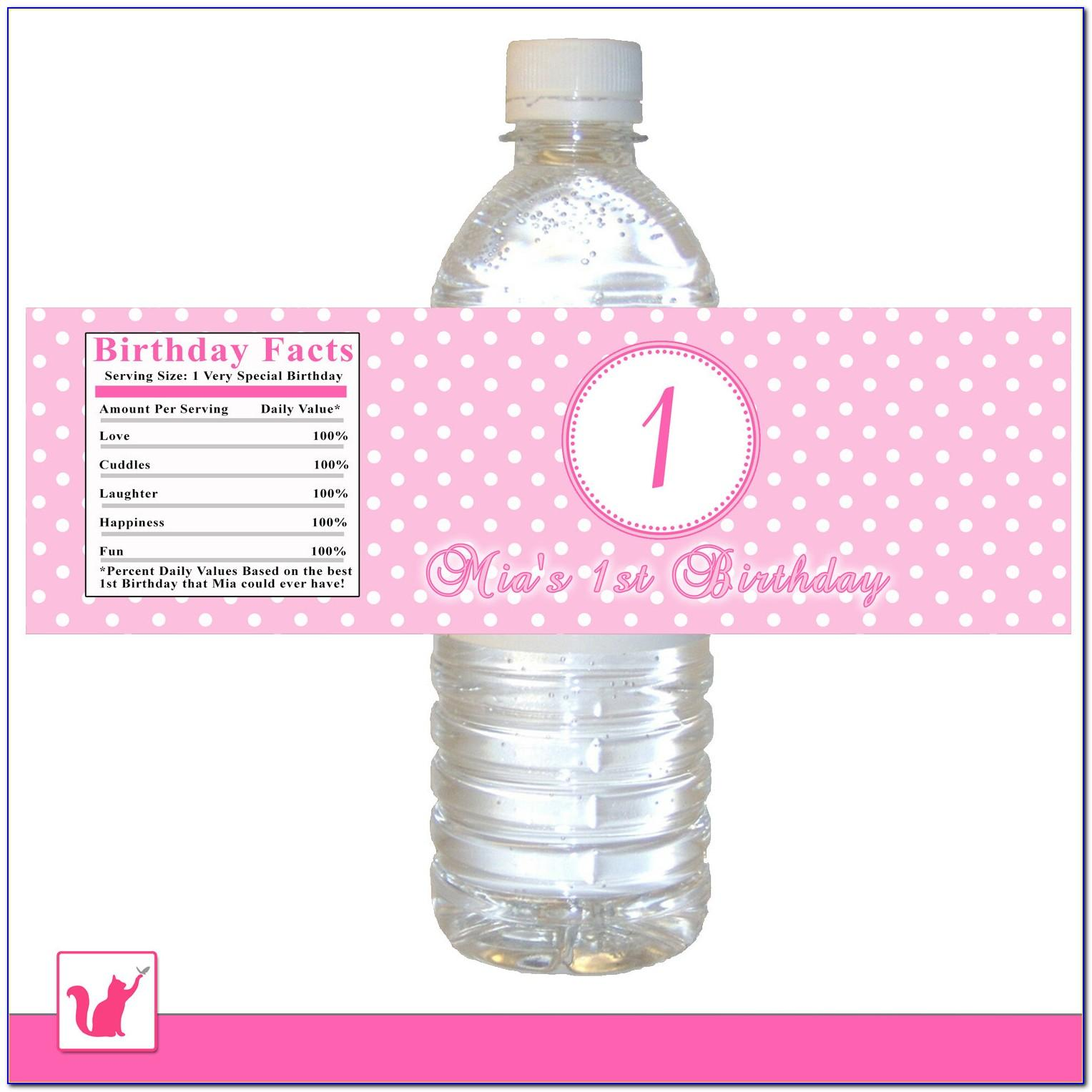 Free Avery Water Bottle Label Template
