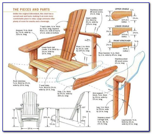 Free Bar Height Adirondack Chair Plans & Templates