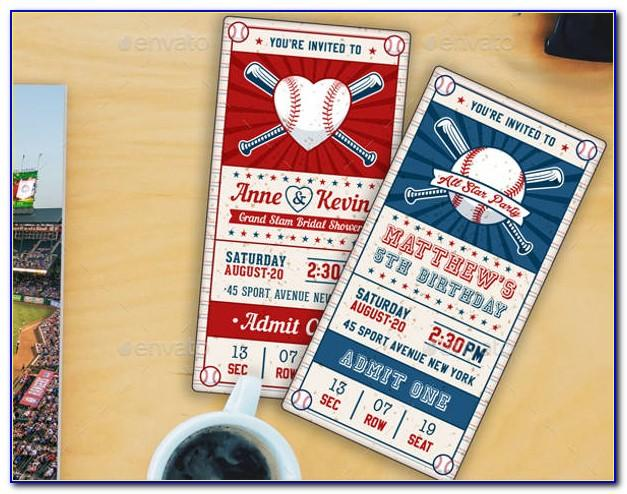 Free Baseball Game Invitation Template