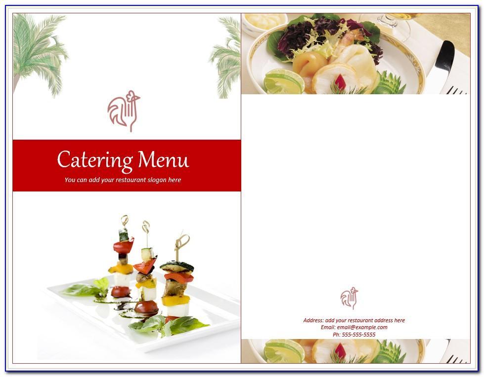 Free Bbq Catering Menu Template