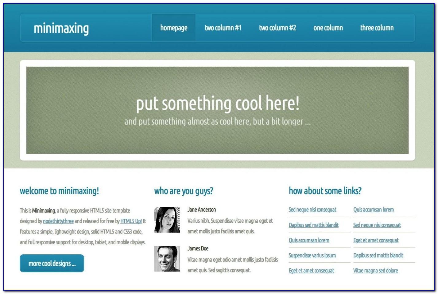 Free Dreamweaver Cs6 Website Templates Download