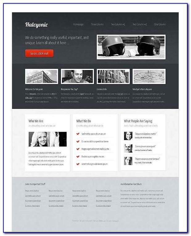 Free Dreamweaver Responsive Website Templates