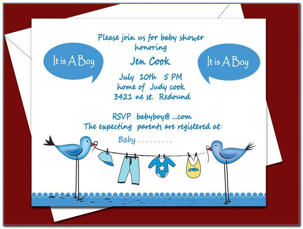 Free Editable Baby Boy Shower Invitation Templates