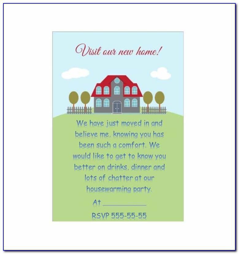 Free Editable Housewarming Invitation Templates
