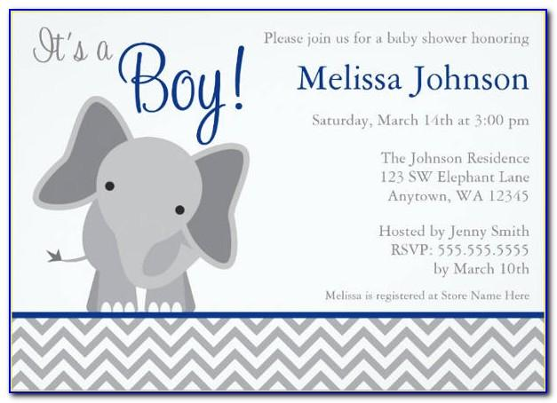 Free Elephant Baby Shower Invitations Templates Pdf