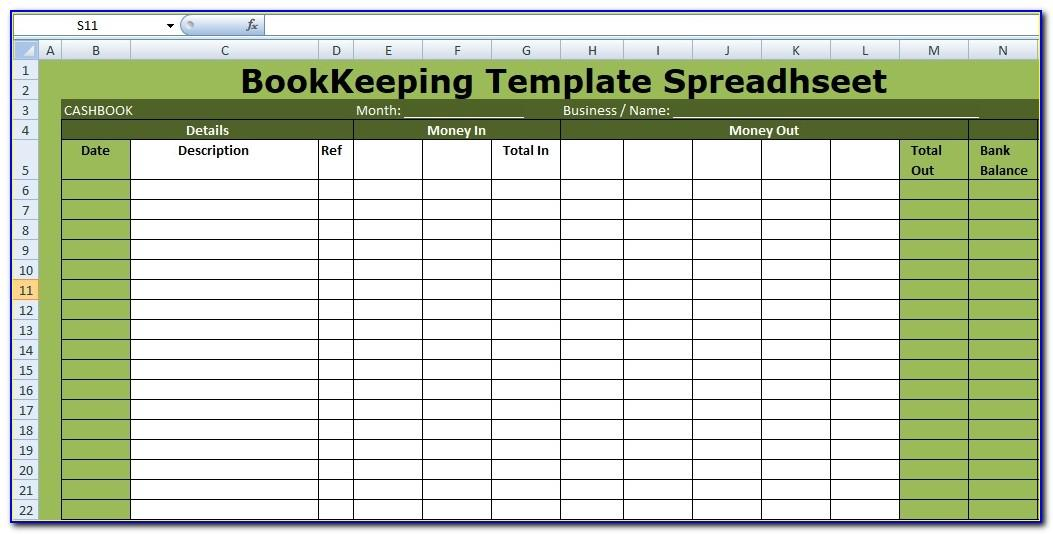 Free Excel Template For Small Business Bookkeeping