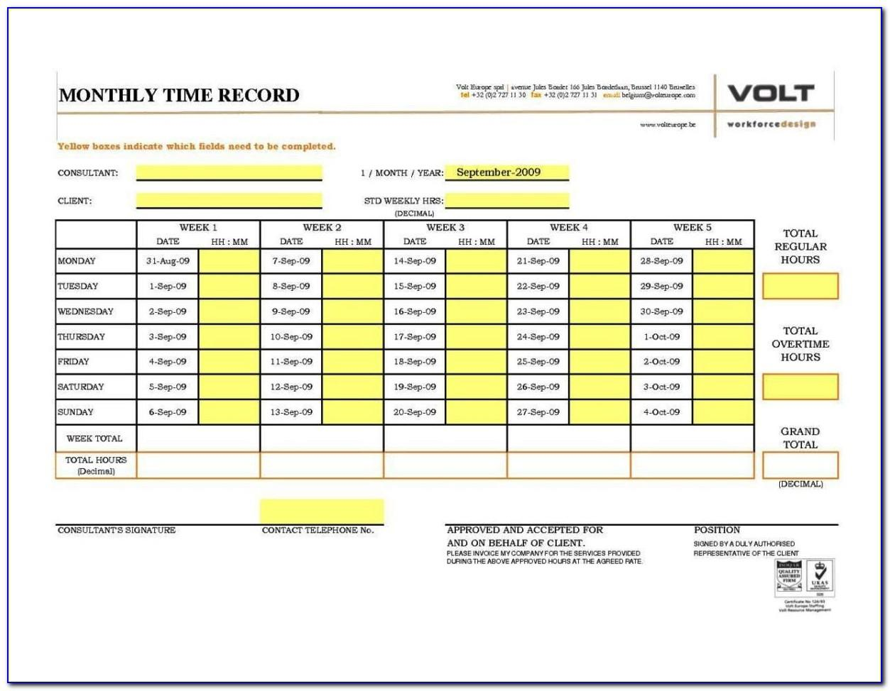 Free Excel Timesheet Template With Breaks