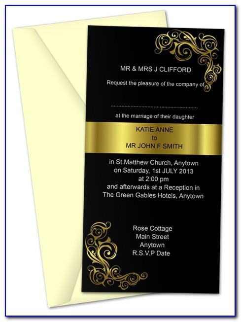 Free Invitation Card Templates Online
