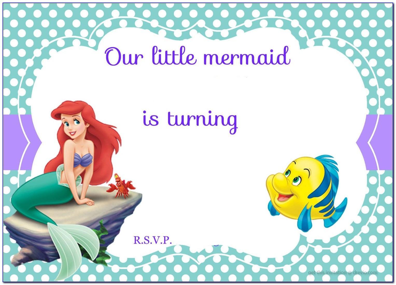 Free Mermaid Birthday Invitation Template