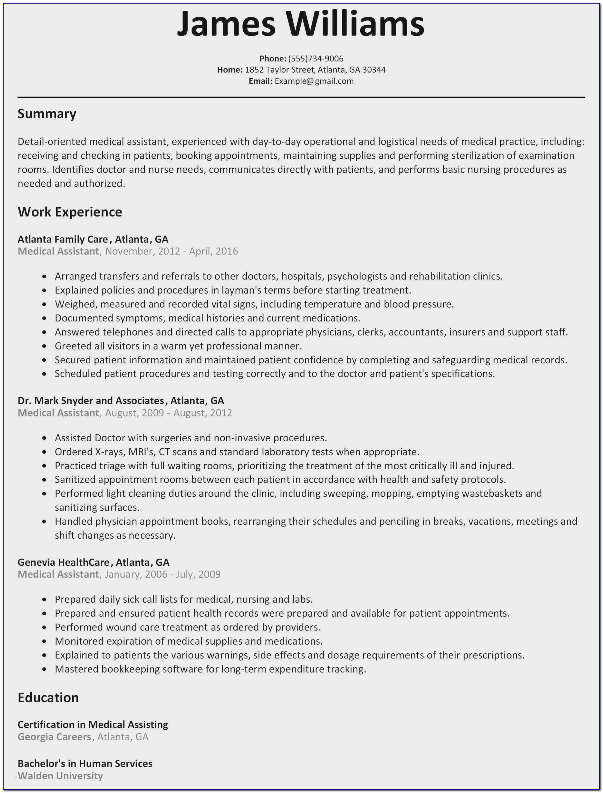 Free Ministry Resume Templates