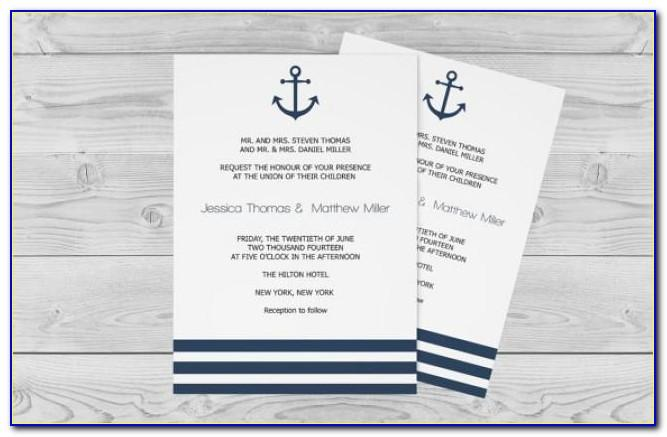 Free Nautical Invitation Template