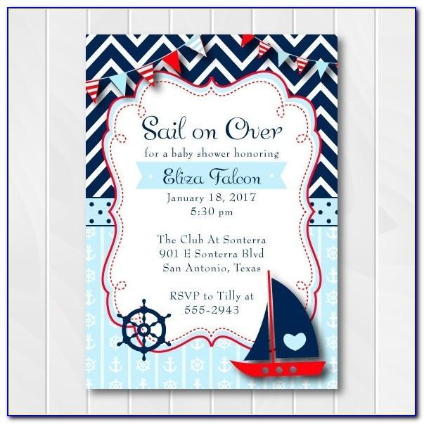 Free Nautical Wedding Invitation Templates