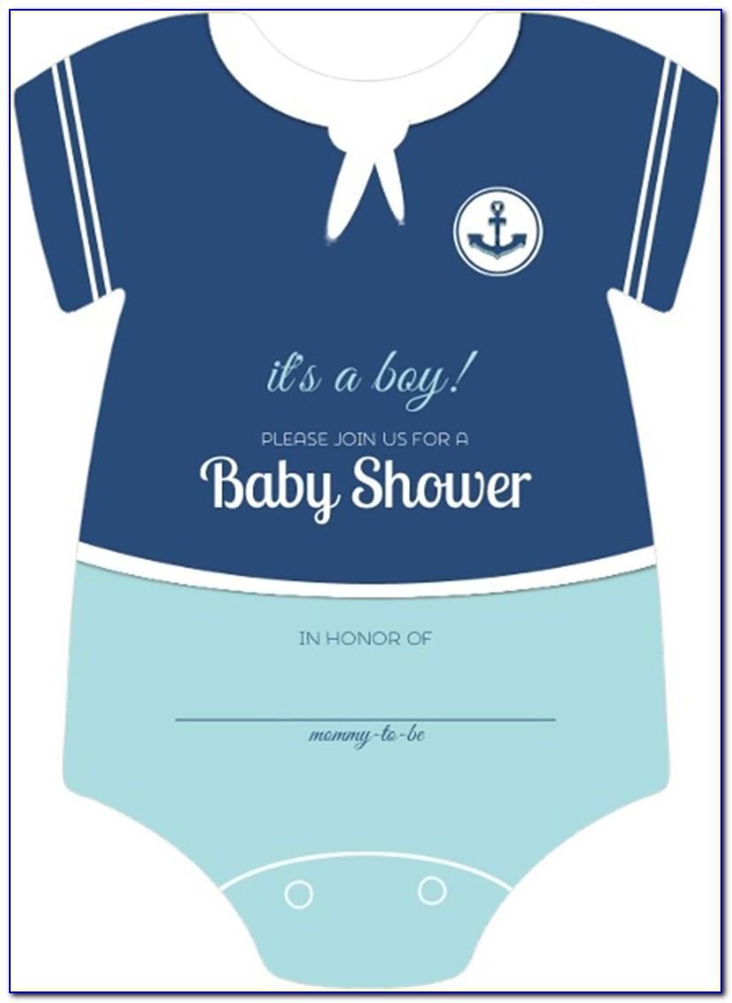 Free Onesie Baby Shower Invitation Template