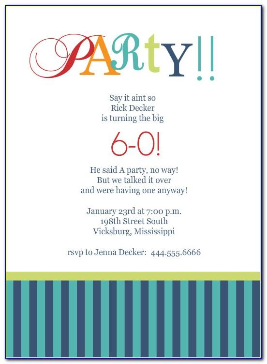 Free Online 60th Birthday Invitation Templates