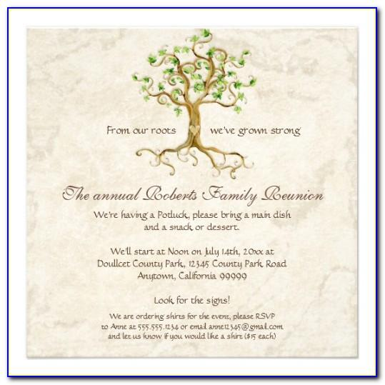 Free Online Family Reunion Invitation Templates