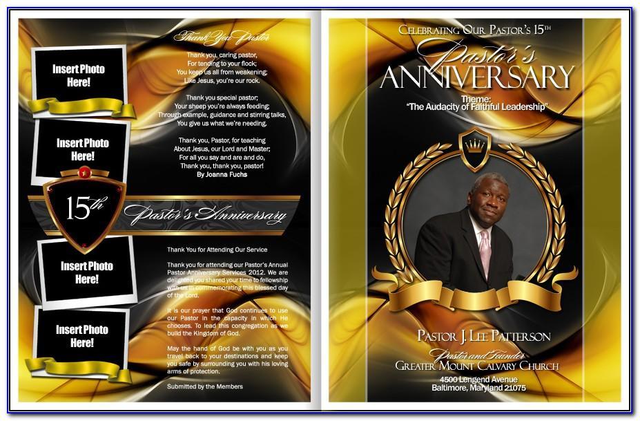 Free Pastor Anniversary Program Template
