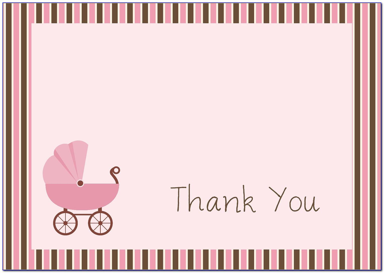 Free Printable Baby Shower Thank You Card Templates