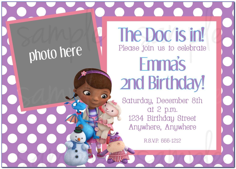 Free Printable Doc Mcstuffins Invitations Template
