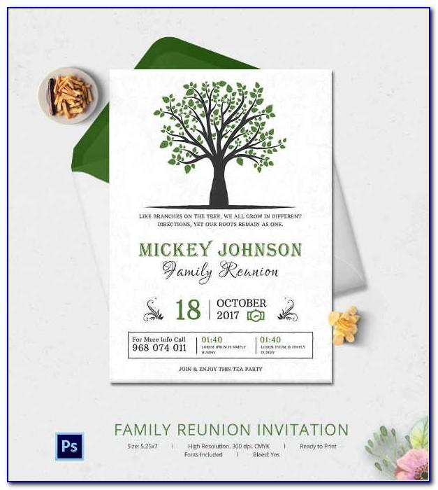 Free Printable Family Reunion Invitation Templates