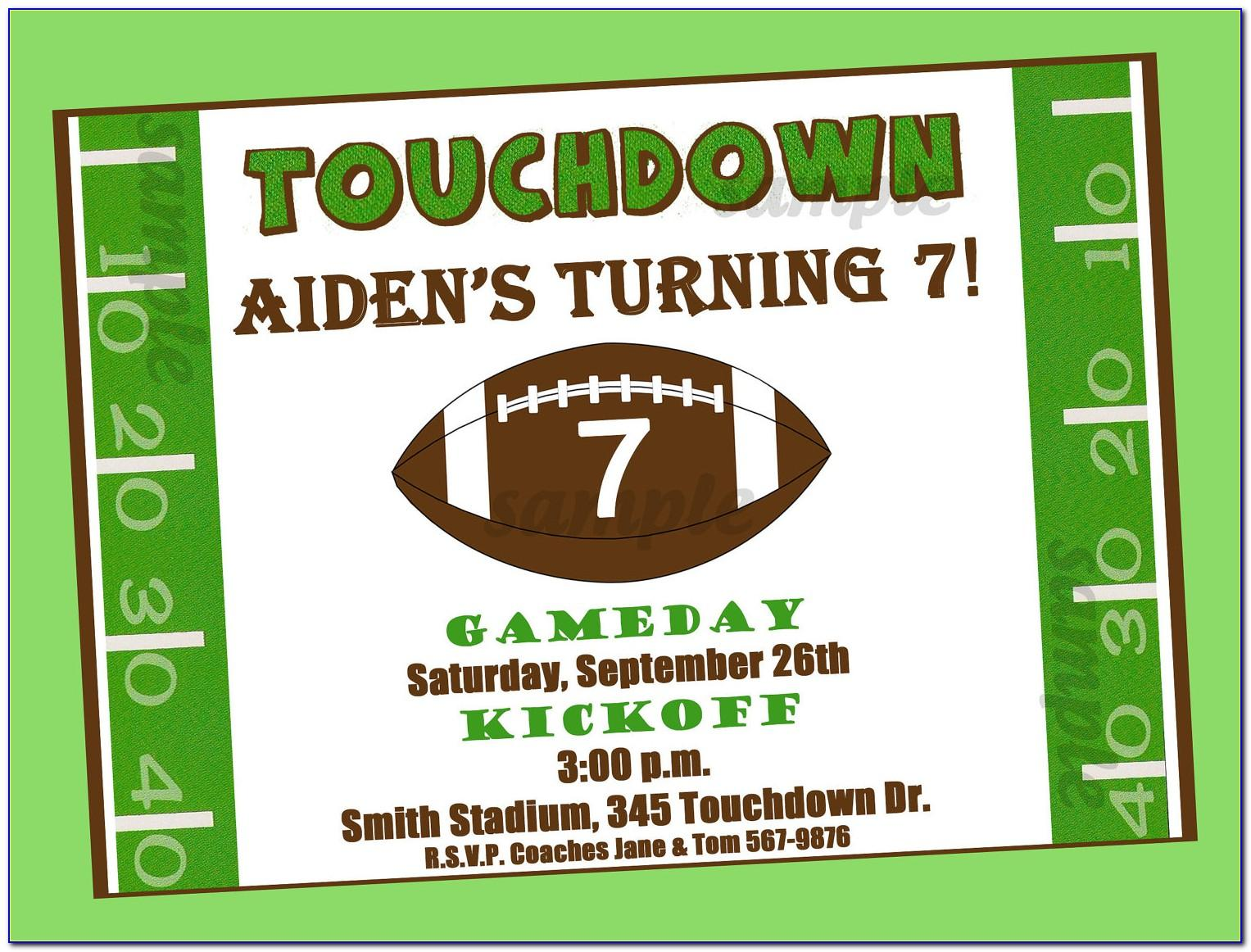Free Printable Football Ticket Invitation Template