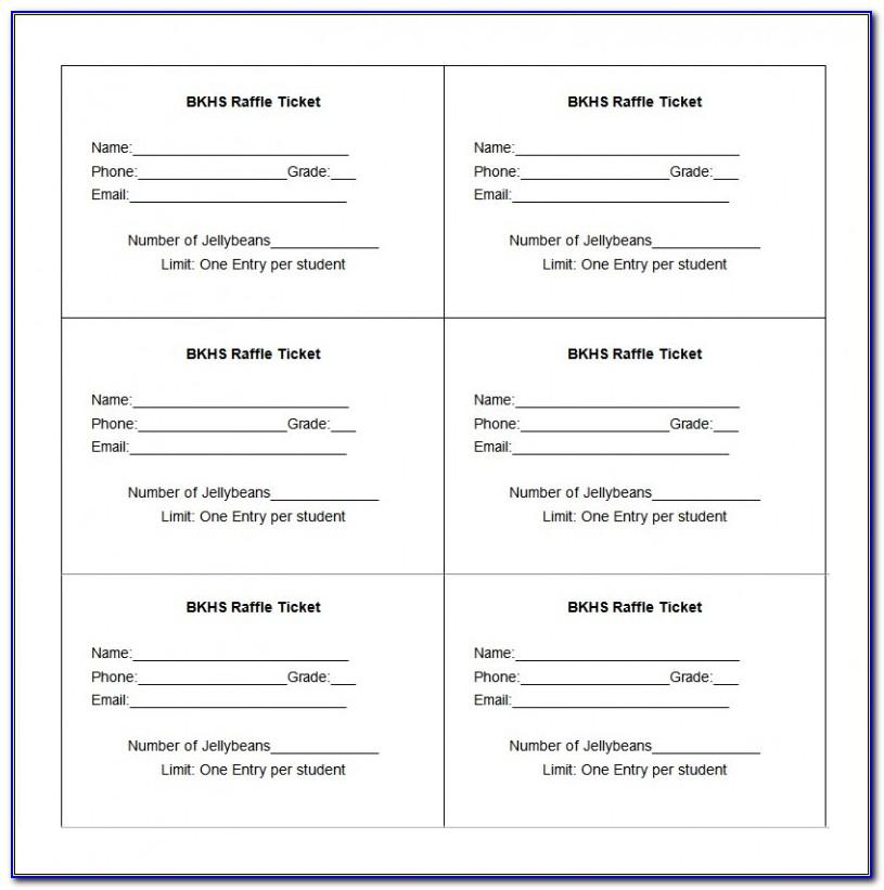 Free Printable Fundraiser Tickets Template