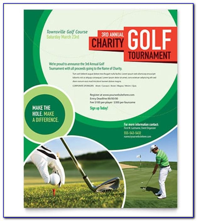 Free Printable Golf Tournament Flyer Template