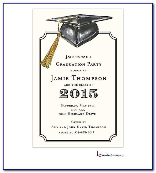 Free Printable High School Graduation Invitations Templates