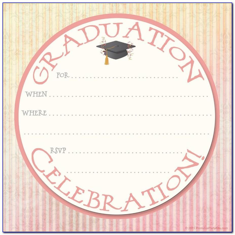 Free Printable High School Graduation Party Invitation Templates