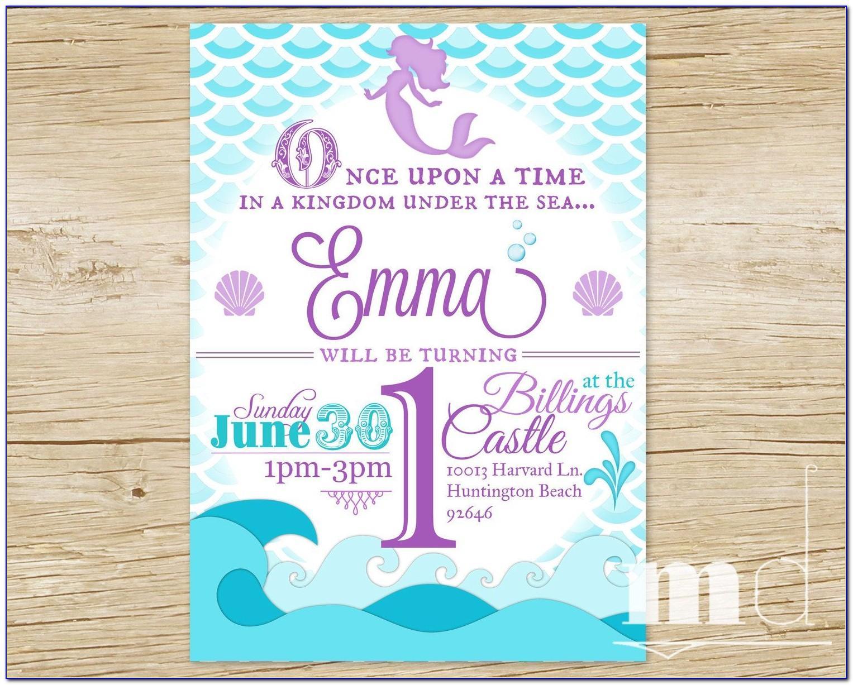 Free Printable Mermaid Invitation Templates
