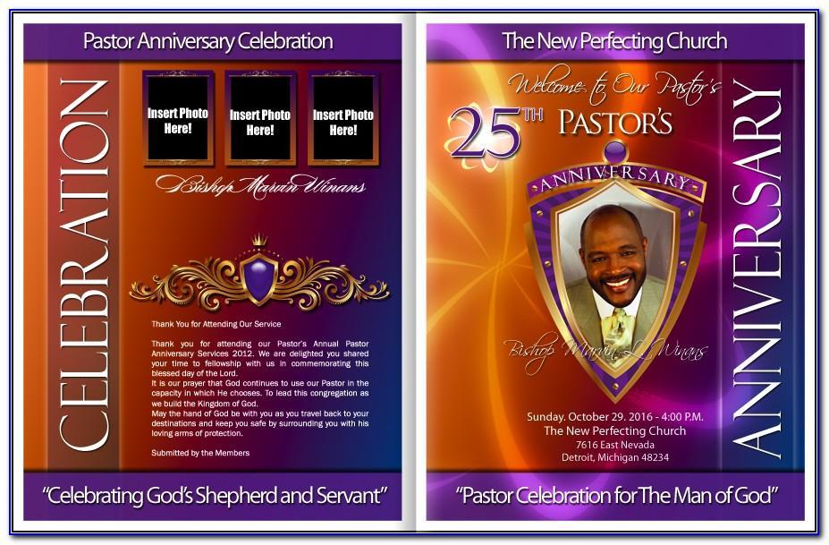 Free Printable Pastor Anniversary Program Template
