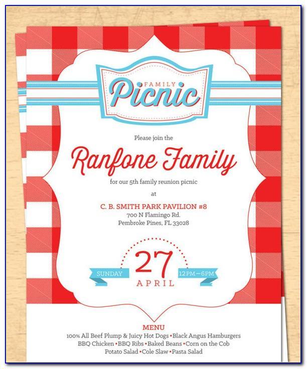 Free Printable Picnic Invitation Template