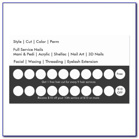 Free Printable Punch Card Template