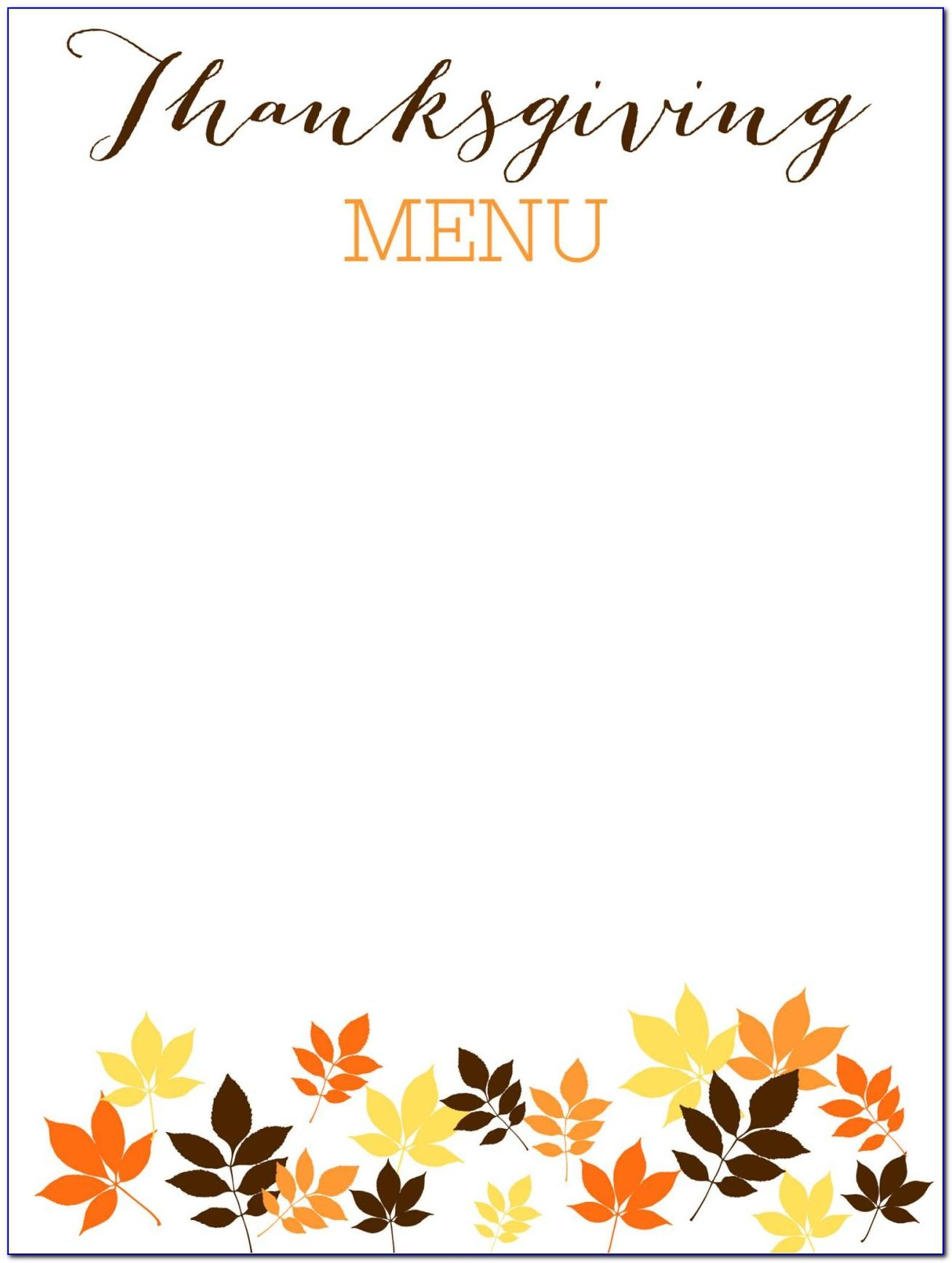 Free Printable Thanksgiving Place Cards Template