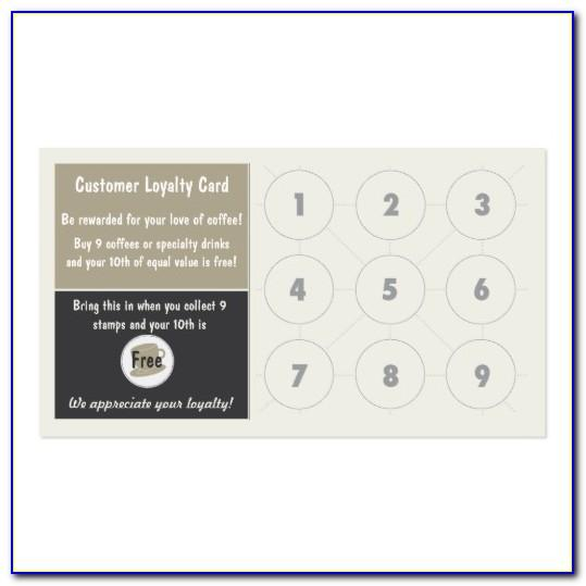Free Punch Card Template Word