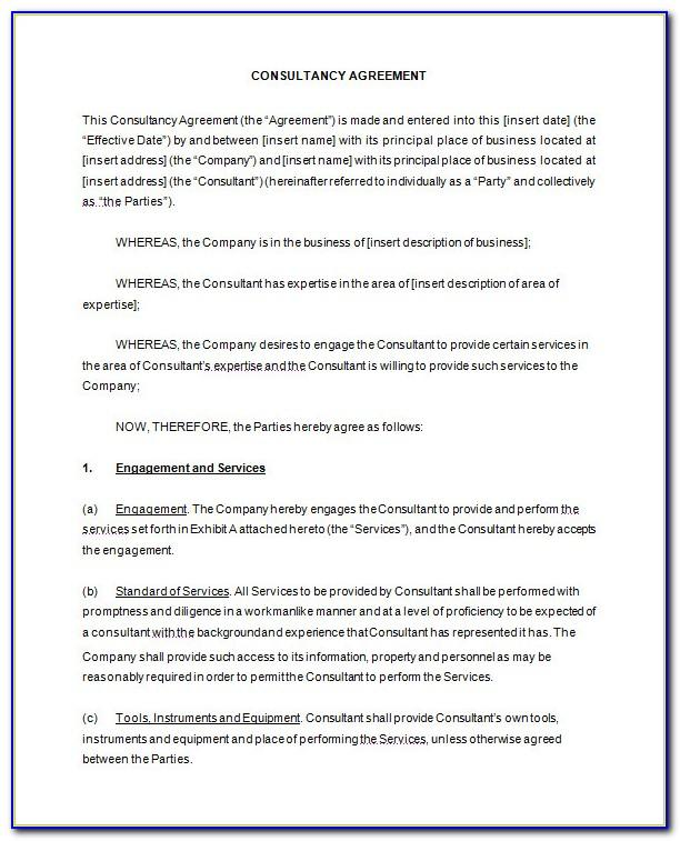Free Sample Consulting Agreement Template