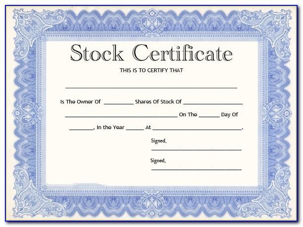 Free Stock Certificate Ledger Template