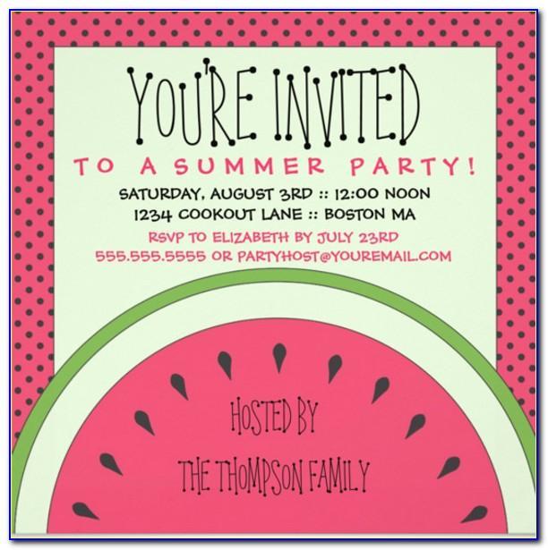 Free Summer Picnic Invitation Template