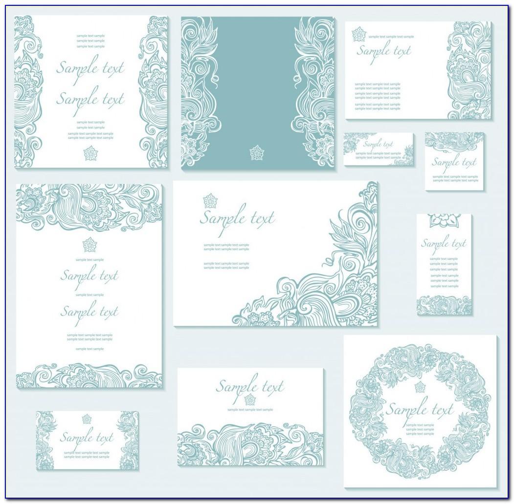 Free Vintage Style Wedding Invitation Templates