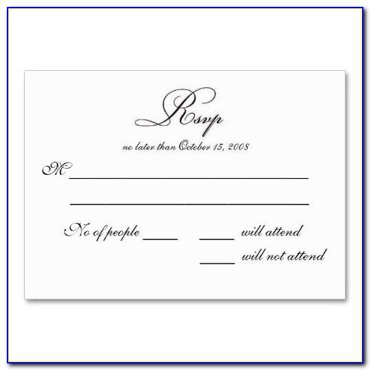 Free Wedding Rsvp Postcard Template