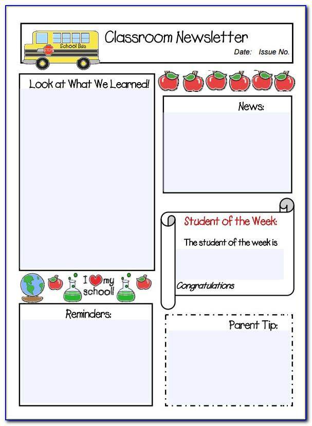 Free Weekly Classroom Newsletter Template