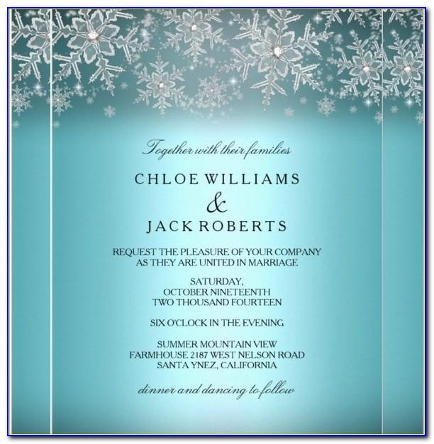 Free Winter Wonderland Invitations Templates