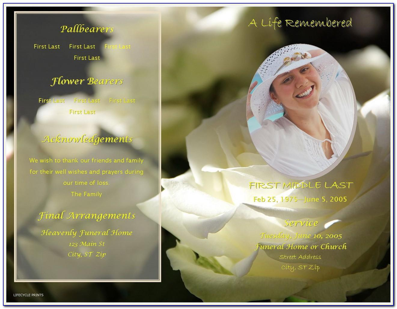 Funeral Photo Slideshow Powerpoint Template