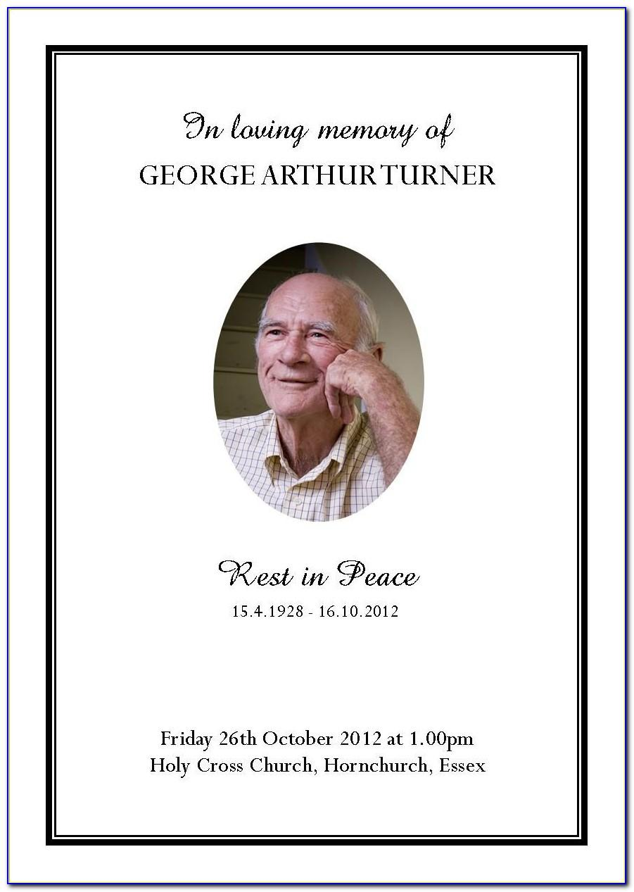 Funeral Service Templates Free Download