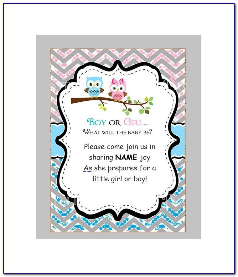 Gender Reveal Game Templates