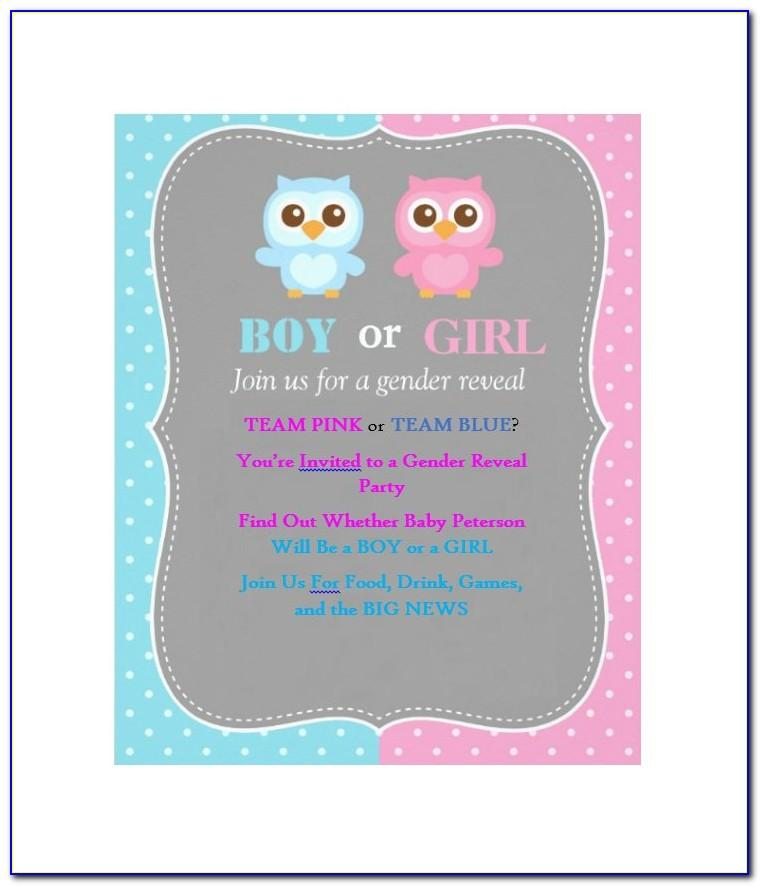 Gender Reveal Invitations Templates Free
