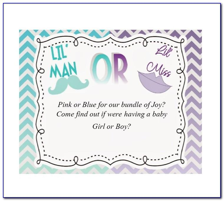 Gender Reveal Party Templates