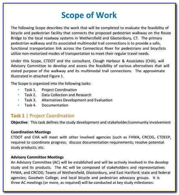 General Contractor Scope Of Work Sample